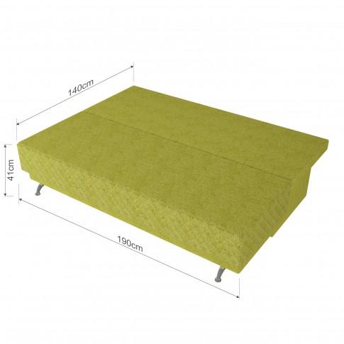 Canapea extensibila 3 locuri Karla, cu lada, verde, 205 x 60 x 78 cm, 2C