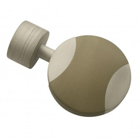 Capete galerie Kira Disc, metal, 19 mm, argintiu
