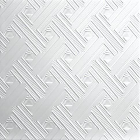 Tavan fals decorativ, polistiren extrudat, C2007, modern, alb, 50 x 50 x 0.3 cm