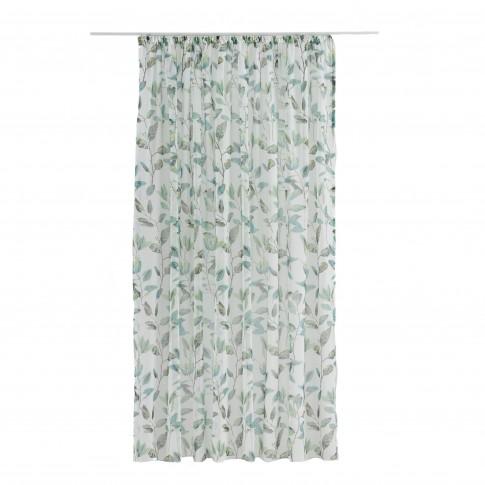 Perdea Maui, poliester, turcoaz + verde, 300 x 260 cm