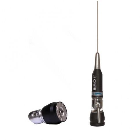 Antena statie radio CB Sirio Performer P-600 PL, exterior, 1000 W, impendanta 50 Ohmi, 1.25 m, distanta de comunicare 10 km
