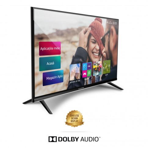 Televizor LED Smart Allview 32ATS5500-H, diagonala 81 cm, HD, negru