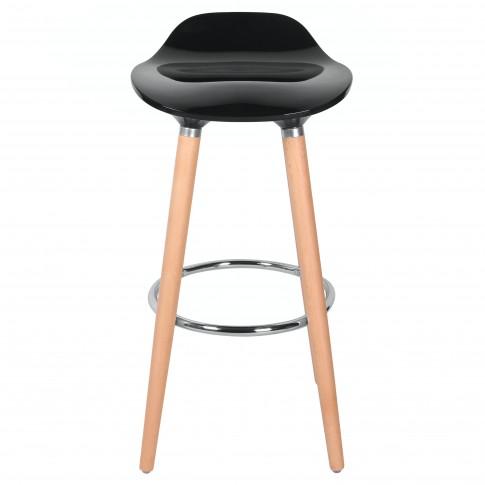 Scaun bar Jasmine, fix, ABS + lemn fag + metal, 80.5 cm