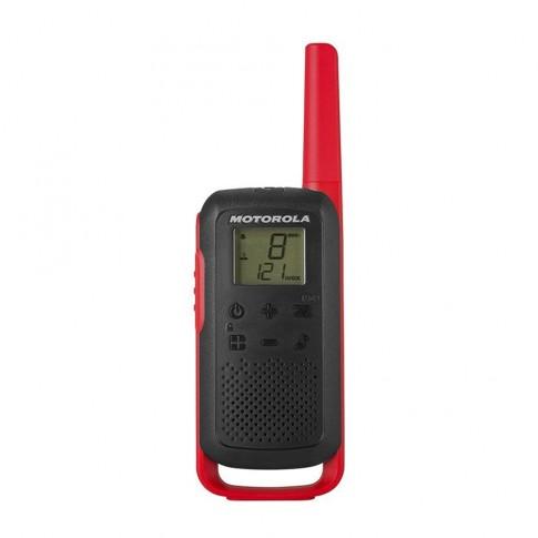 Statie radio emisie / receptie PMR portabila Motorola Talkabout T62 Red, set 2 bucati, blocare tastatura, squelch digital, Roger Beep, scanare canale, monitorizare canale
