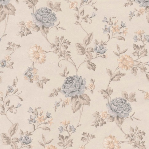 Tapet fibra textila, model floral, Grandeco Via Veneto VV3104, 10 x 0.53 m