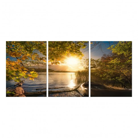 Tablou canvas TA19-A9041, 3 piese, peisaj, panza, 90 x 40 cm