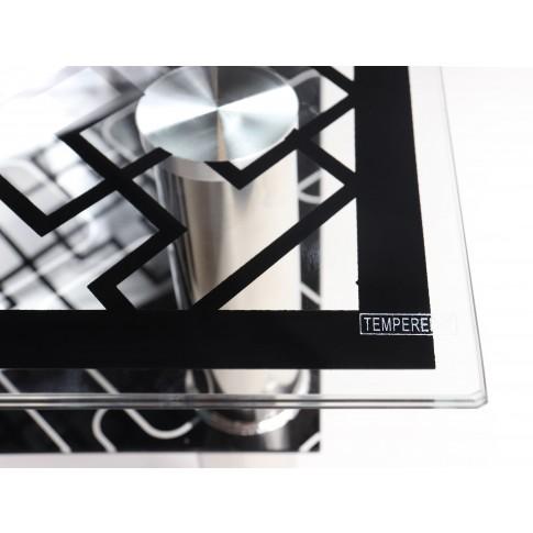 Masuta cafea din sticla MC-100, dreptunghiulara, neagra, 100 x 50 x 42 cm, 2C