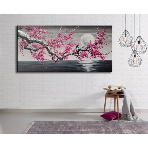 Tablou canvas DED-197066, compozitie cu flori, panza + sasiu lemn, 50 x 100 cm