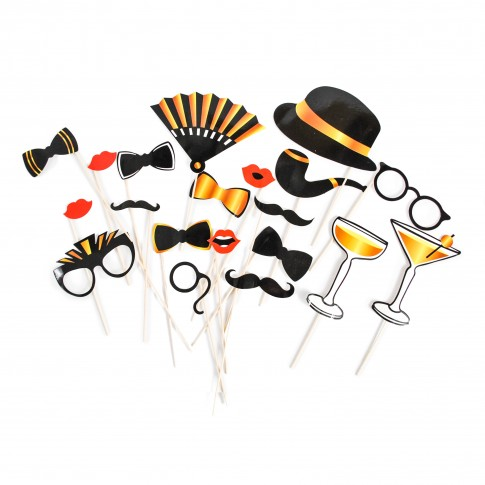 Accesorii foto Party, set 20 piese