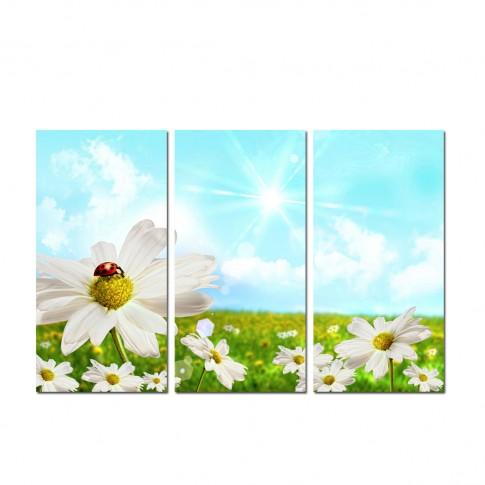 Tablou canvas TA12-PA0035, 3 piese, compozitie cu flori, panza, 90 x 60 cm
