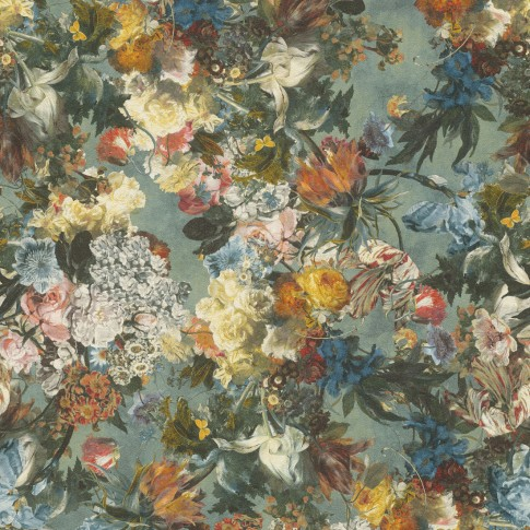 Tapet fibra textila, model floral, Rasch Passepartout 605655, 10 x 0.53 m