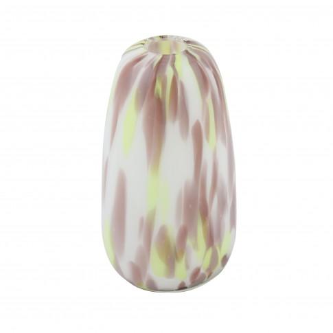 Vaza decorativa LG002, din sticla colorata, H 18 cm