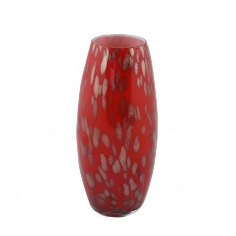 Vaza decorativa L26-4, din sticla colorata, H 26 cm