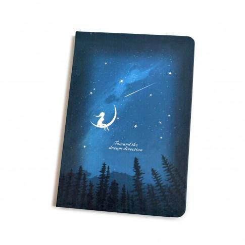 Agenda tip notes, Night Star, 160 pagini, 12.8 x 18.5 cm