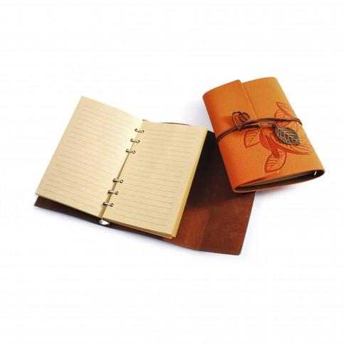 Agenda cu mecanism interior cu 6 inele, coperta imitatie piele, diverse modele, 80 pagini, 13 x 18.3 cm
