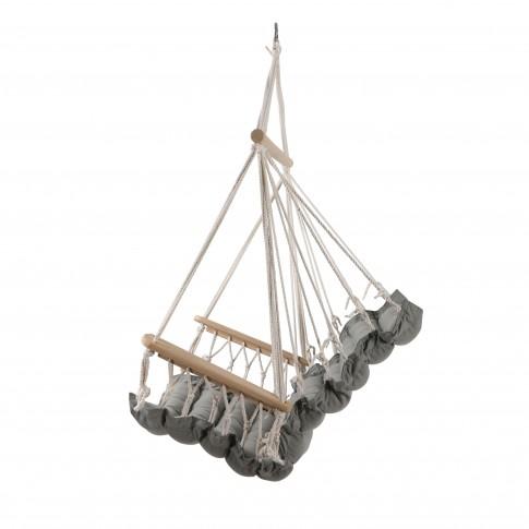 Hamac tip scaun, cu bara din lemn, Manila 68511C, 90 x 65 cm