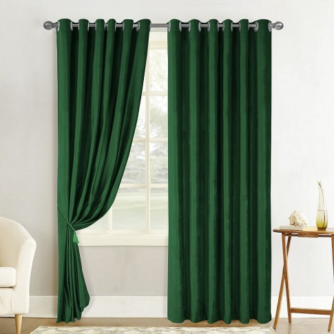 Draperie Atria, Velvet Amelie 5018-35, catifea, verde, semiopac, H 280 cm
