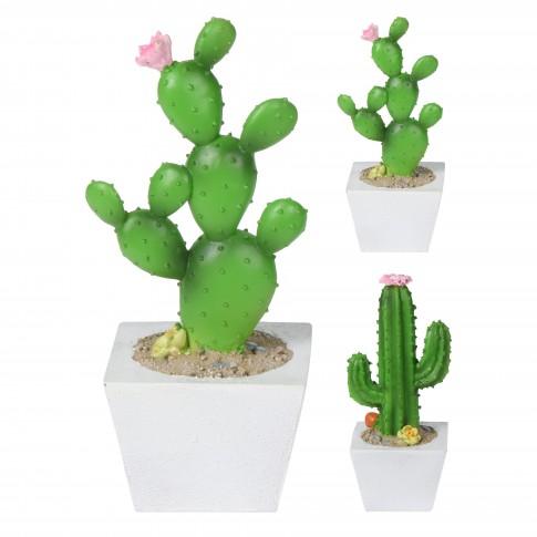 Floare artificiala, Cactus in ghiveci, Koopman 095202150, diverse modele, H 17 cm