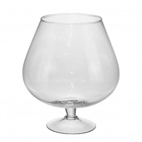 Vaza decorativa, din sticla, Koopman DS2000060, H 24.5 cm
