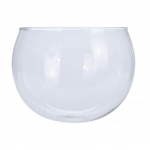 Vaza decorativa, din sticla, Koopman DS5000150, H 16 cm