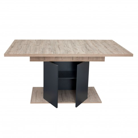 Masa bucatarie fixa Sofia, dreptunghiulara, 8 persoane, sherwood + antracit, 160 x 85 x 75 cm, 1C