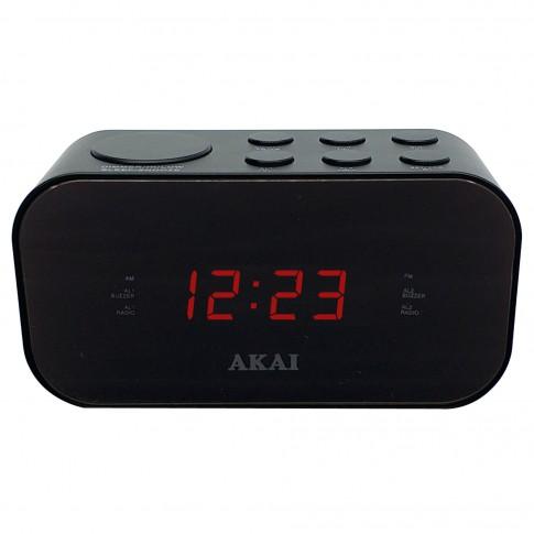 Radio FM / AM PLL Akai ACR-3088, cu ceas, alimentare retea, ecran LED 1.5 cm, alarma duala cu radio sau buzzer, functie Sleep, functie Snooze, functie Dimmer