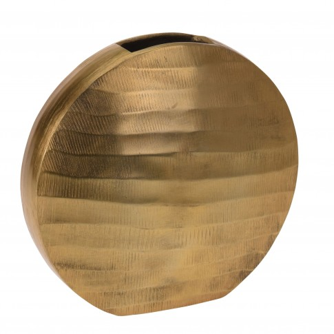 Vaza decorativa, metalica, Koopman A03660330, aurie, H 24.5 cm