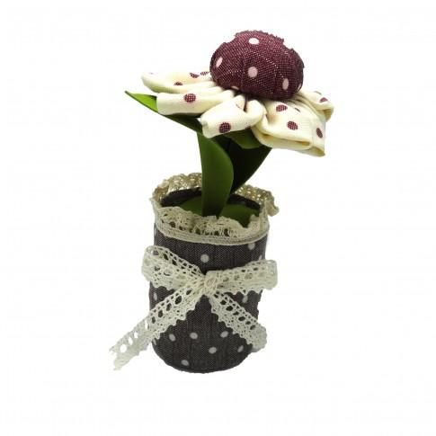 Decoratiune parfumata, Aroma Land  6426495550693, floare cu buline, carbune bambus