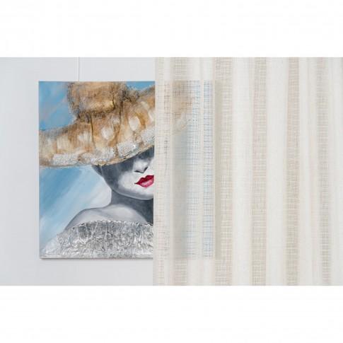 Perdea Cairo 02, poliester, crem, model abstract, H 280 cm