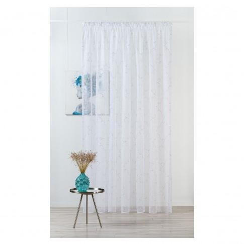 Perdea Mendola Fabrics, model Sedona, Quadra, batist, alb, H 280 cm