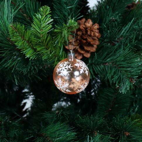 Globuri Craciun, portocalii, diametru 6 cm, set 6 bucati, SD19B-6-359