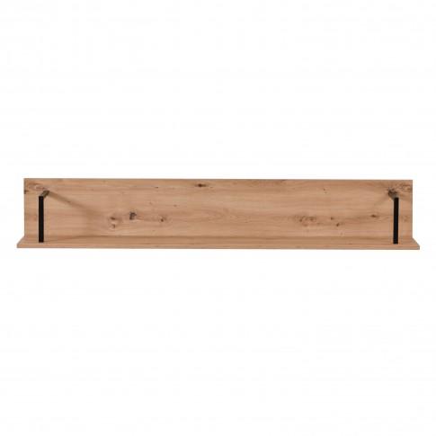 Etajera PAL, perete, Sardinia ZP, stejar artisan + negru, 137.5 x 21 x 24 cm, 1C