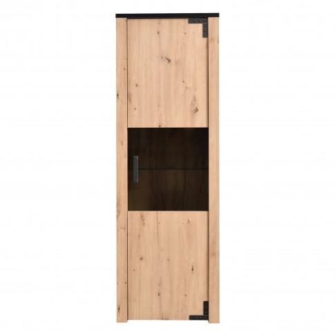 Vitrina living Lazio 1K VS, stejar artisan, 63.5 x 36 x 190 cm, 2C