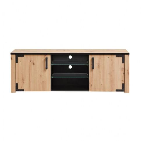 Comoda TV Lazio 170, stejar artisan + negru, 168 x 40 x 57.5 cm, 2C
