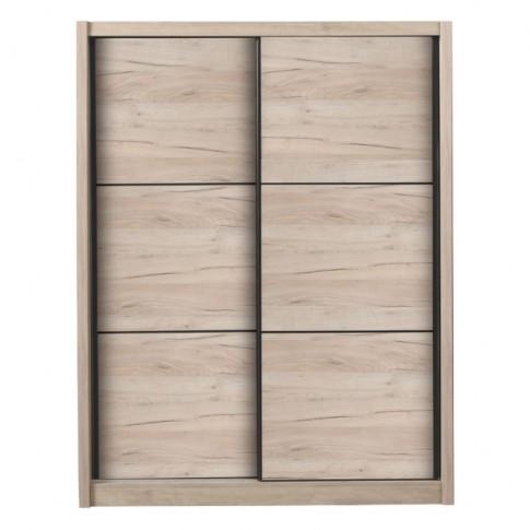 Dulap dormitor Navara 165, stejar gri, 2 usi glisante, 166 x 60 x 215.5 cm, 7C
