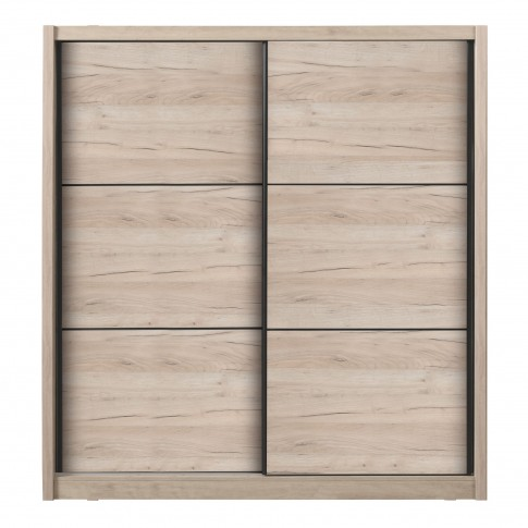 Dulap dormitor Navara 215, stejar gri, 2 usi glisante, 213 x 60 x 215.5 cm, 7C