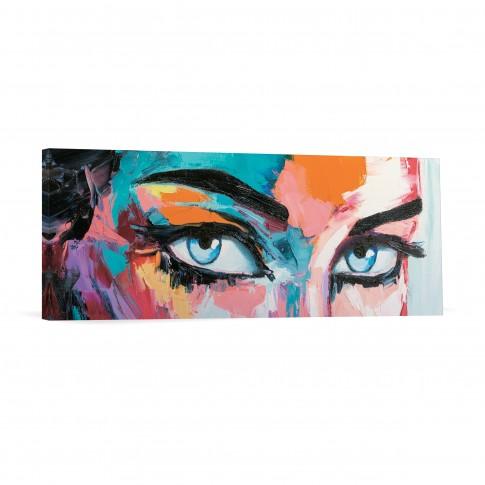 Tablou canvas 04272, Ochi albastri, panza, 30 x 90 cm