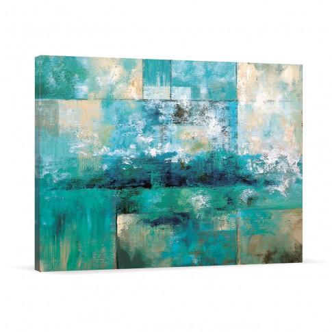 Tablou canvas 02618, Albastru, panza, 60 x 90 cm