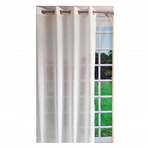Perdea cu inele 3013, poliester, ivoriu, 135 x 245 cm