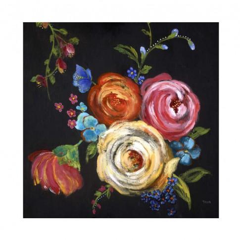 Tablou canvas Decor 04544, Flori colorate, panza + sasiu, 60 x 60 cm