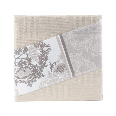Lenjerie de pat Romano, 2 persoane, bumbac 80 %, 200 x 220 cm,  set 4 piese + cuvertura