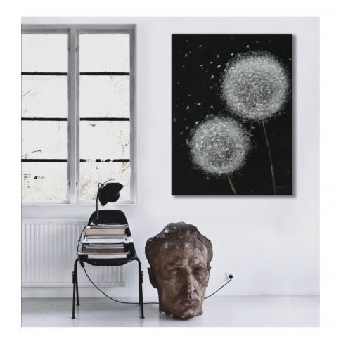 Tablou canvas M190950-7, compozitie cu papadie, panza + sasiu lemn, 60 x 80 cm
