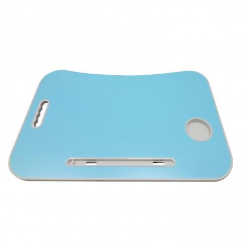 Masa pentru laptop Nolito, plianta, albastra, 60 x 40 x 27 cm