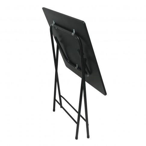 Masa bucatarie plianta Wenke, patrata, 2 persoane, neagra, 60 x 60 x 75.5 cm, 1C