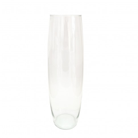 Vaza Maslina M, Fast Glass Decor, sticla transparenta, H 39 cm