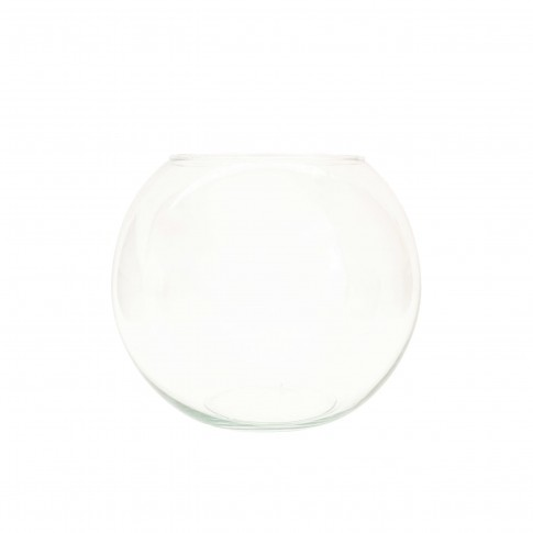 Bol D16, Fast Glass Decor, sticla transparenta, H 14 cm