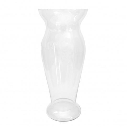 Vaza Cleo M, Fast Glass Decor, sticla transparenta, H 28.5 cm
