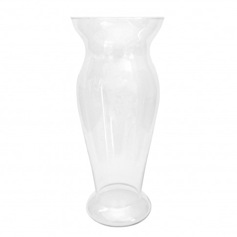 Vaza Cleo S, Fast Glass Decor, sticla transparenta, H 27 cm