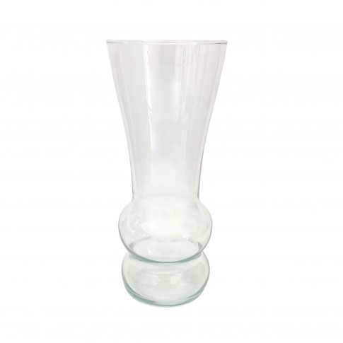 Vaza MGC S, Fast Glass Decor, sticla transparenta, H 25.5 cm
