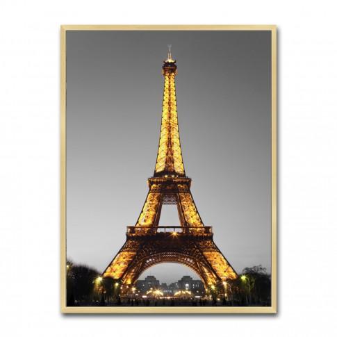 Tablou canvas TA21-AP0267-3, turnul Eiffel, panza, cu rama, 40 x 30 cm